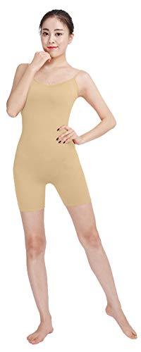SK Studio Frauen Einteilige Tank Unitard Bodysuit Lycra Spandex Haut Feste elastische Ganzanzug Tanz Yoga - Unitards Für Tanz Kostüm
