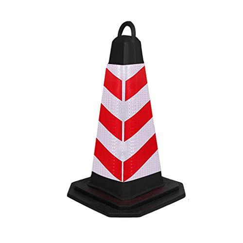 YC electronics Warnkegel Straßen-Kegel-Sicherheits-Dreieck-Kegel-Eiscreme-Eimer kein Parken Straße Barrier Column Parking Reflective Cone leitkegel (Color : 1 Packs, Größe : 70cm) (Kleine Safety Cones)