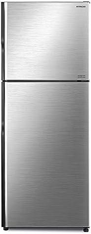Hitachi 500 Liters Top Mount Refrigerator, Brilliant Silver - RV500PUK8KBSL, 1 Year Warranty