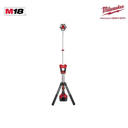 Milwaukee 4933451392 – m18hsal-0 M18 Radius TrueView Strahler mit Stativ, AC/DC, 3000/1800/800 Lumens ver-0 und mit Kabel