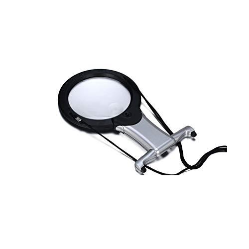 MAGF Beleuchtete led Brust hängen Lupe Tisch tragbare Lampe Lupe zum lesen 3X / 6X ältere Kinder juweliere identifikation Lupe (Tv-fach Runde Tisch)