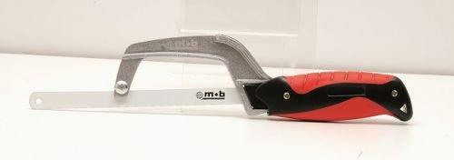 Peddinghaus 6314000001 Scie contour courte avec manche en Elastomère, Argent/rouge/noir, 300 mm