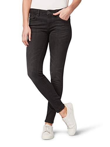 TOM TAILOR für Frauen Jeanshosen Alexa Skinny Ankle Jeans Black Denim, 30/30