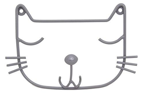 Wandmontage grau Draht Cat Head Einzel Haken Deko ()