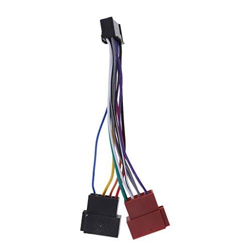 IPOTCH Auto Radio Adapter Kabel 16 Pin Din ISO Buchse für die Meisten Pioneer Car-Audio-Einheiten mit Down-Sicherung des ISO-Anschlusses. -