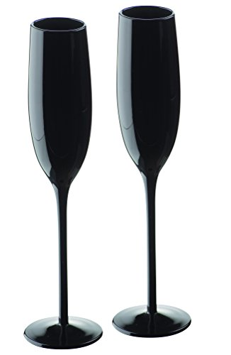 Artland Midnight Service de 2 flûtes Noir