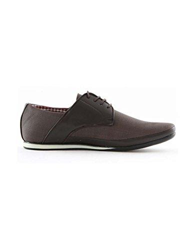 ZY Chaussure - Chaussure pas chère homme ZY 7625-2 Marron