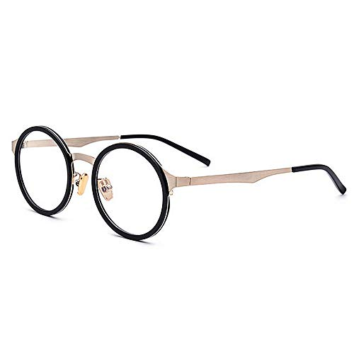 Yiph-Sunglass Sonnenbrillen Mode Exquisite leichte Frauen einfache Brille Full Frame Business Brillengestell Brille mit klarer Linse (Farbe : Schwarz)