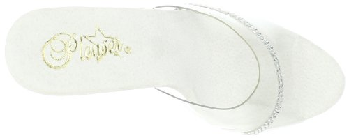 Pleaser Lip-101r, Plateau femme Transparent