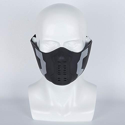 Der Winter Soldier Kostüm Cosplay - VAWAA 1pcs Captain America Winter Soldier Bucky Barnes Cosplay Masken Halbes Gesicht Die Avengers 3 Superhelden PVC Requisiten