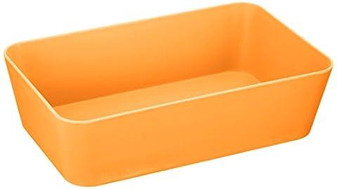 Wenko Candy Orange 20309100 Storage Tray Wide