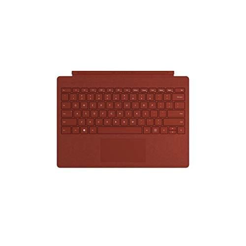 Microsoft - Signature Type Cover pour Surface Pro - clavier compatible Surface Pro 3/4/5/6/7 (Alcantara, rétroéclairage LED, pavé tactile en verre) - Rouge Coquelicot (FFP-00104)