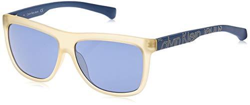 Calvin klein jeans sonnenbrille ckj781s 740-58-13-140 occhiali da sole, bianco (weiß), 58.0 unisex-adulto
