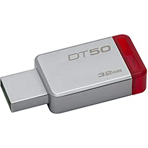Kingston DataTraveler 50 32GB USB 3.0 Flash Drive (DT50/32GBIN), Grey