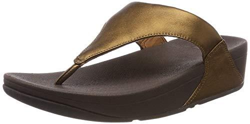 Fitflop Lulu Leather Toepost, Infradito Donna, Marrone (Bronze 012), 40 EU