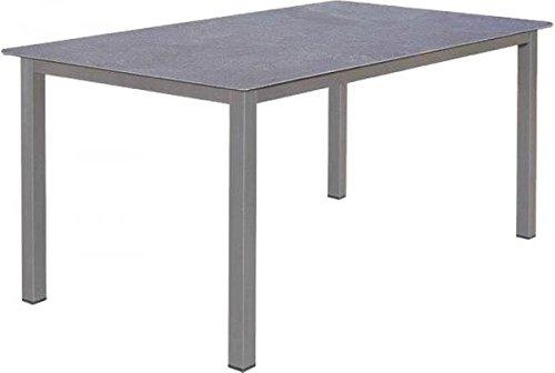 Alutisch Esstisch Gartentisch Lofttisch MecSlim 160 x 90 cm Farbe anthrazit / Beton