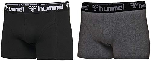 hummel Herren HMLMARS 2 Boxers, Schwarz/Dunkelgrau Melange, 3XL
