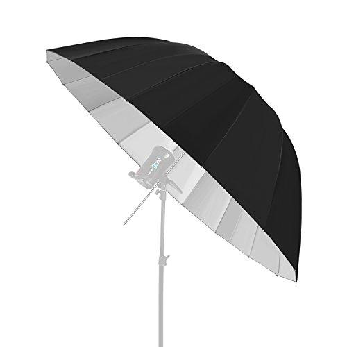 Neewer fotografia Deep nero/argento ombrello riflettore–Diffusore di luce e Modificatore per Monoluce flash per studio fotografico (Esadecagono con 129,5cm/129.5centimeters di diametro)