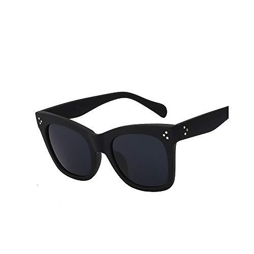WJMLHLKK Sonnenbrille-Frauen-Markendesigner-Retro Weinlese-Sonnenbrille-Art- Und Weisefrau Sonnenbrille Big Frame Uv400