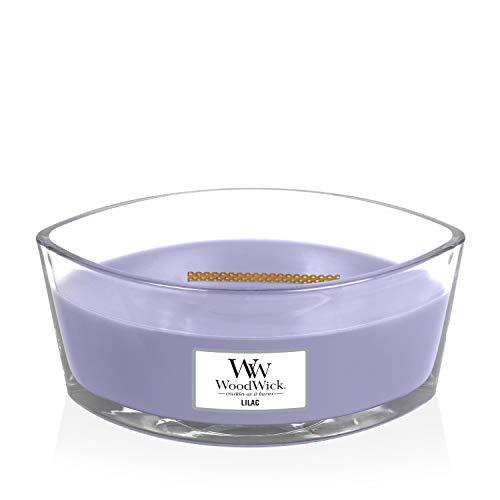 Woodwick - Vela aromática (Aroma a parafina y Lila)