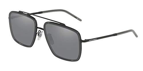 Ray-Ban Herren 0DG2220 Sonnenbrille, Mehrfarbig (Matte Black/Transparente Grey), 57.0