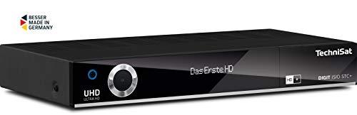TechniSat Digit ISIO STC+ UHD Receiver (mit Twin Tuner, Sat DVB-S/DVB-S2, Kabel DVB-C, DVB-T2 HD, Smart TV, App Steuerung, PVR Aufnahmefunktion, WLAN, LAN, CI+, USB 3.0, 6 Monate HD+) schwarz