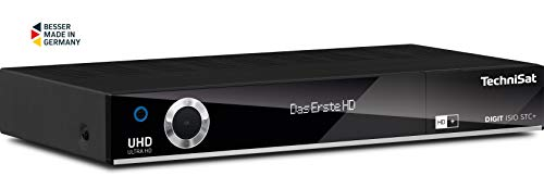 TechniSat Digit ISIO STC+ UHD Receiver (4K Twin Tuner, Sat DVB-S/DVB-S2, Kabel DVB-C, DVB-T2 HD, Smart TV, App Steuerung, PVR Aufnahmefunktion, WLAN, LAN, CI+, USB 3.0, 6 Monate HD+) schwarz