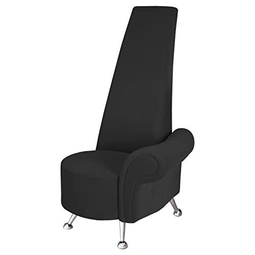 Febland Small Black Potenza Chair with Left Arm, Fabric, 70x65x130 cm
