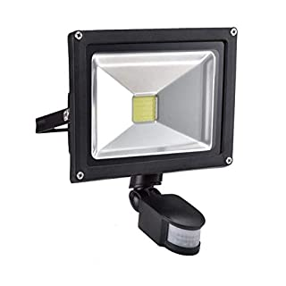 W-LITE 20W LED PIR Security Light Eye-Care with Motion Sensor Warm Lights for Outdoor Waterproof Flood Light for External Outside Garden Pathway 160W Halogen Bulbs Equivalent