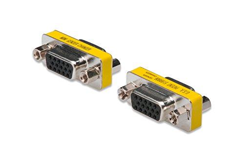 DIGITUS HD D-Sub 15 Gender-Changer - VGA-Adapter - 15-Pin Kupplung - Stecker zu Stecker - Metallgehäuse -