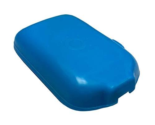 31cY0udKVuL - Schutzhülle & Displayschutz für Freestyle Libre I & II Blutzucker Messgerät, Anti-Rutsch Material, Schutzcover Blau