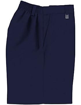 Uniforme escolar niños resistente generoso Fit pantalones cortos gris, azul marino
