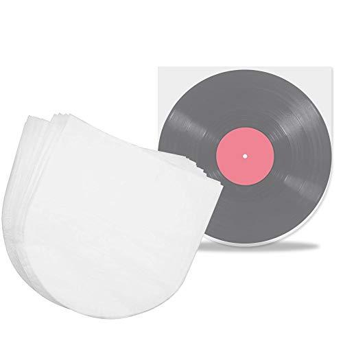 PERFETSELL 100 Stück Schallplattenhülle Semitransparent Lp Innenhüllen Antistatisch Vinyl Schallplatten Innenhüllen Single Schutzhüllen Plattenhüllen Hüllen für 12 inch Schallplatten