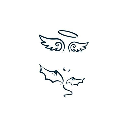 Yangll new hot design tatoo impermeabile tatuaggio temporaneo adesivi per adulti body art angelo diavolo ali tatuaggio falso per uomo donna 10.5x6cm8ps