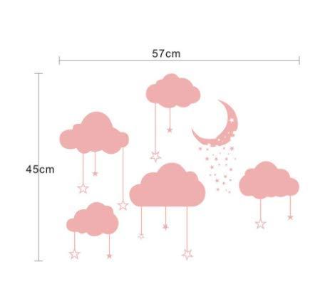 GKOO Wandaufkleber Wetter Mobile Kreative Wolke Aufkleber Wand Mit Dekorativen Poster Wandaufkleber Fenster Dekoration Tapeten Angebracht