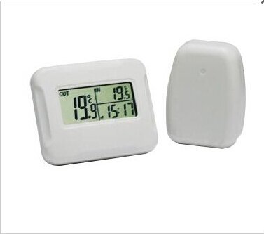 Xcellent Global Schnurlos Indoor/ Outdoor Thermometer Sensor, Weiß HG109 -