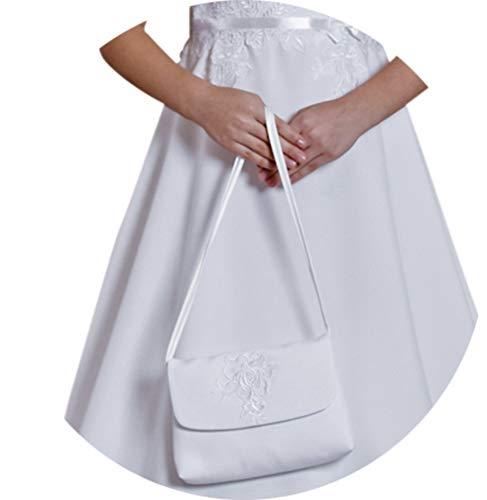 YES Kommuniontasche Brauttasche Tasche Umhängetasche Kommunion Hochzeit Blumenmädchen Täschchen Amelie