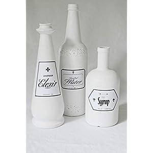 Dekoflaschen 3 Flaschen handmade Unikate