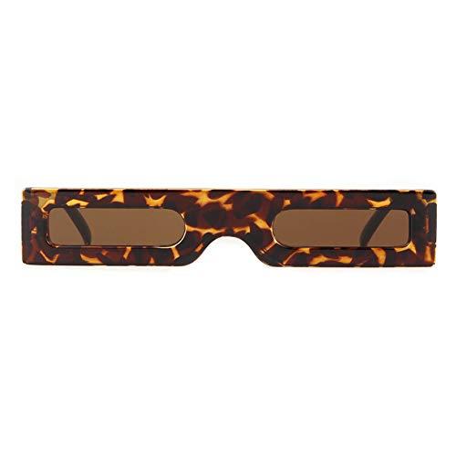 ZRTYJ Sonnenbrille Schmale dünne Rechteck-Sonnenbrille Frauen Markendesigner Männer Retro Weinlese-Starke rechteckige Rahmen-Sonnenbrille