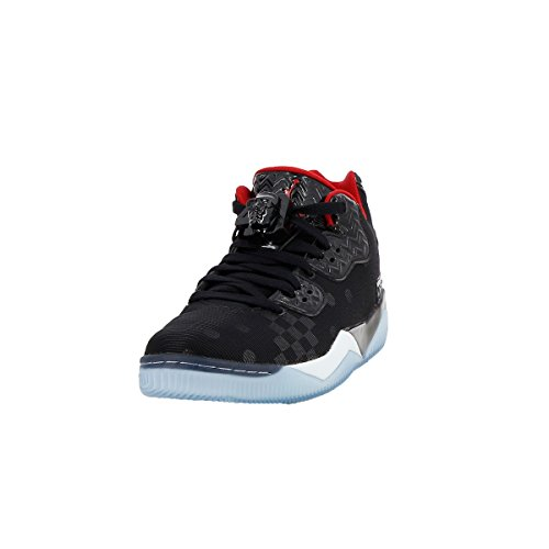 Nike Air Jordan Spike Forty Low, Chaussures de Sport-Basketball Homme Noir - Negro (Black / Gym Red-Wolf Grey-Cl Gry)