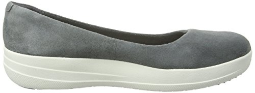 FitFlop F-sporty Ballerina, Ballerines femme Gris (anthracite)