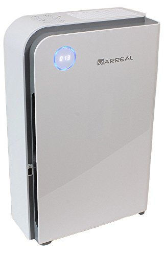 HEPA Luftreiniger bis 60m², ultraleise, mit Feinstaubsensor, Partikelanzeige, Nachtmodus und 6 Stufen Reinigung -