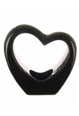 Porzellan Vase, Herzform, Rot glänzend schwarz und weiß, Design von Homestreet Vase schwarz