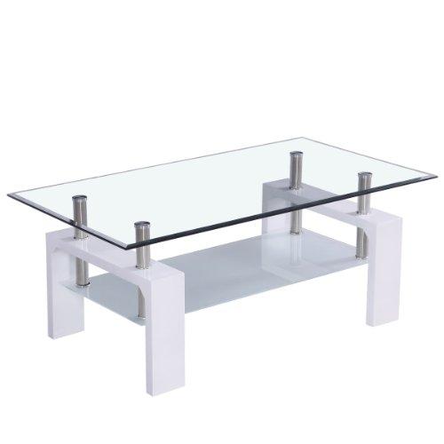 Mesa de centro con tablero de cristal