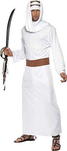 Preisvergleich Produktbild Lawrence von Arabien Kostüm Weiß Gewand Kopfbedeckung und Gürtel, Medium