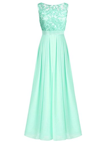 iiniim Damen Elegant Abendkleid Brautjungfer Cocktailkleid Chiffon ...