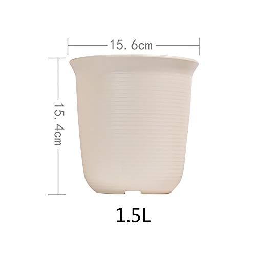 Pot de Fleur Plastique Grande Petit Charnu Floral Épaissir Imitation céramique Résine Green Rose-B 1.5L