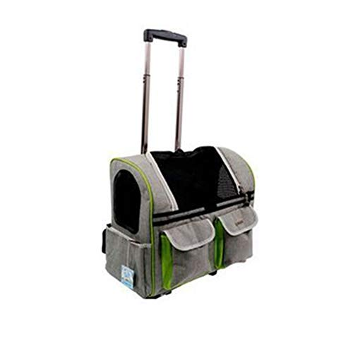 FZQ Pet Trolley Bag, Pet Out Backpack, Aluminum Alloy Rod, Thick Nylon  Breathable Mesh, Durable, Pratique et Pratique, Trois Couleurs en  Option,Gray