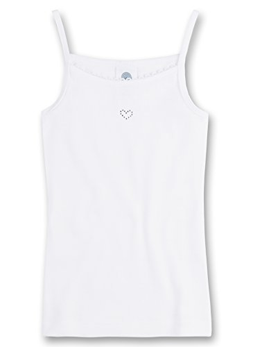 Sanetta Mädchen Unterhemd 330629, Gr. 164, Weiß (10) - Mädchen Unterhemd
