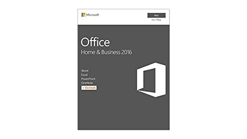 Microsoft Office 2016 Home and Business MAC (Produktschlüssel per Post/E-Mail